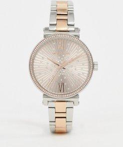Michael Kors - Mini Sofie - Armbanduhr aus Metallmix
