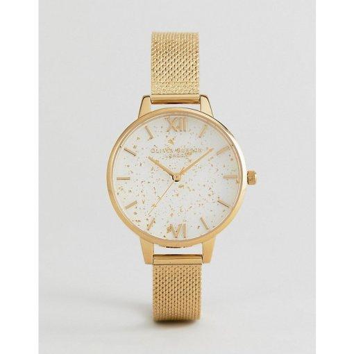 Olivia Burton - OB16GD15 Celestial - Goldene Netzstoff-Bouclé-Armbanduhr - Gold