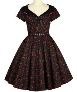 Vintage Red Circle Dress