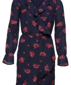 Kleid in Wickeloptik mit Volants