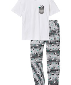 Pyjama mit Oversized Shirt