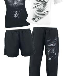 Spiral Bright Eyes Pyjama schwarz/weiß