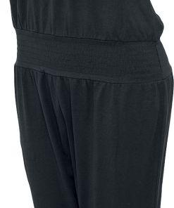 Urban Classics Ladies Shoulderfree Capri Jumpsuit Jumpsuit schwarz