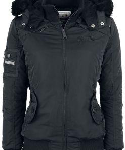 Lonsdale London Ulwell Girl-Winter-Jacke schwarz