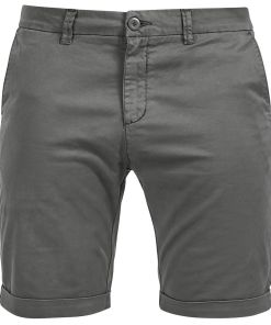 Urban Classics Stretch Turnup Chino Shorts Shorts dunkelgrau