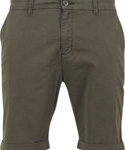 Urban Classics Stretch Turnup Chino Shorts Shorts oliv