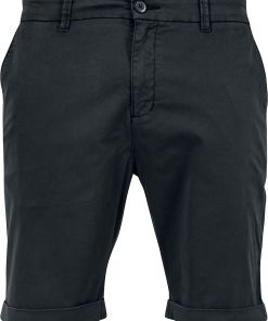 Urban Classics Stretch Turnup Chino Shorts Shorts schwarz