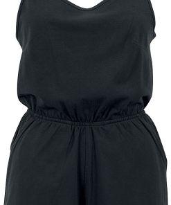 Urban Classics Ladies Short Spaghetti Jumpsuit Jumpsuit schwarz