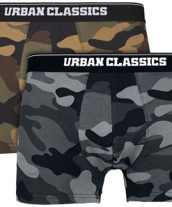 Urban Classics 2-Pack Camo Boxer Shorts Boxershort woodcamo/darkcamo