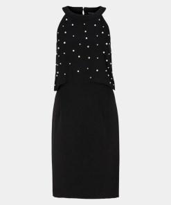Abendkleid Grau/Schwarz 26