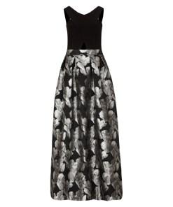 Abendkleid Grau/Schwarz 1