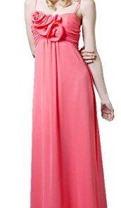 Nachtigall+Lerche Abendkleid elegant für Hochzeit lang Brautjungfernkleid Abschlussball-Kleid Empire-Kleid Chiffonkleid Gr.36