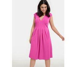 Kleid aus Scuba-Jersey Lila-Pink Damen