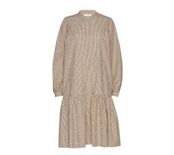 Jang Ls Dress Kleid Knielang Beige SECOND FEMALE