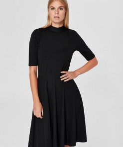 SELECTED FEMME Rückenfreies Kleid schwarz