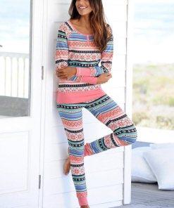 Bench. Pyjama, mit buntem Norwegermuster 802997