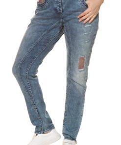Ulla Popken Curvy-Jeans, Pailletten, Teilungsnähte, relaxed - Große Größen 713855
