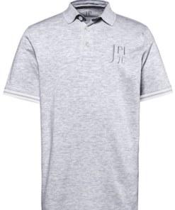 Ulla Popken Poloshirt, JAY-PI Stick, Piqué, Kragen zweifarbig - Große Größen 714243
