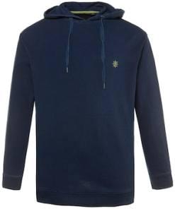 Ulla Popken Hoodie, Sweater mit Kapuze, Rippbündchen - Große Größen 714257