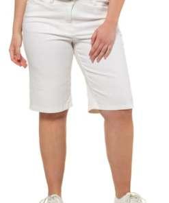 Ulla Popken Jeans-Bermuda, Stretchdenim, gerades Bein - Große Größen 716345