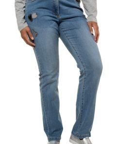 Ulla Popken Jeans Sammy, Patches, schmales Bein, Komfortbund - Große Größen 717284