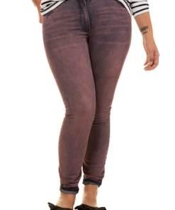Ulla Popken Skinny, farbige Jeans, 5-Pocket, schmale Form - Große Größen 718388