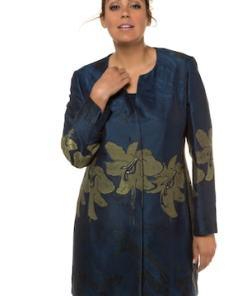 Ulla Popken Jacquardjacke, Lilien-Designs, Longform, selection - Große Größen 718888