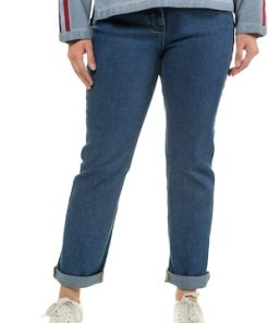 Ulla Popken Jeans Mandy, gerades Bein, 4-Pocket-Form, Komfortbund - Große Größen 720807