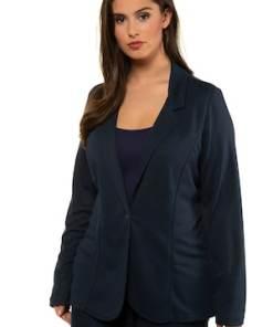Ulla Popken Jersey-Blazer, maritimer Look, gerade Reversform - Große Größen 721330
