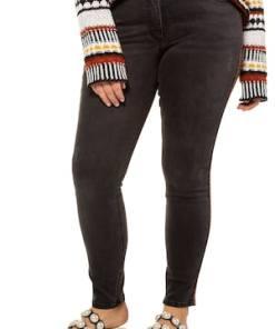 Ulla Popken Skinny Jeans, Ethno-Galon, schmale 5-Pocket - Große Größen 722833