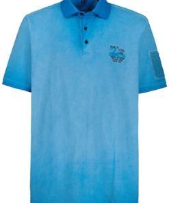 Ulla Popken Poloshirt, Piqué, Halbarm mit Tasche - Große Größen 723232