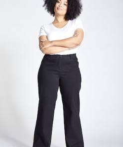 Ulla Popken Jeans Mary, weites Bein, 5-Pocket, Komfortbund - Große Größen 724663