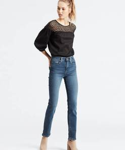 724™ High Waisted Straight Jeans - Mittlere Waschung / Paris Fade