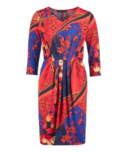 Betty Barclay Jerseykleid mit Blumenprint in Dark Blue/Red , Floral , Feminin