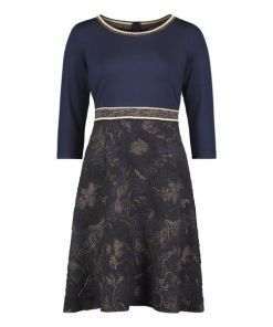 Betty Barclay Partykleid mit Jacquard in Blue/Copper , Floral , Feminin