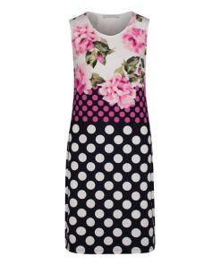 Betty Barclay Jerseykleid ohne Arm in Dark Blue/Pink , Floral , Feminin