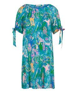Betty Barclay Blusenkleid im Carmen-Look in Green/Rosé , Feminin