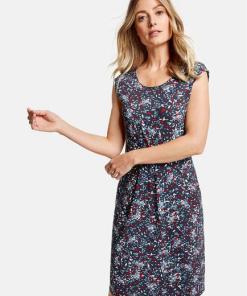 Gerry Weber Leichtes Kleid mit Minimaldessin Blau 46/L Damen