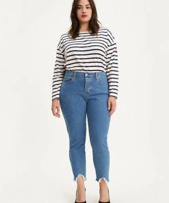 Wedgie Skinny Jeans (Plus Size) - Mittlere Waschung / Pacific Stonewash