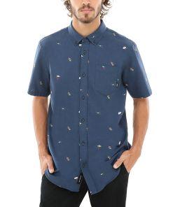 VANS Houser Hemd (barmers Market) Herren Blau, Größe L
