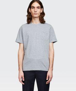 Aspesi T-shirts und Polo - T-SHIRT MIT TASCHE MITTELGRAU 100% Baumwolle XS