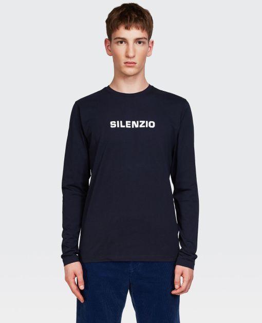 Aspesi T-shirts und Polo - T-SHIRT SILENZIO NAVY BLAU 100% Baumwolle XS
