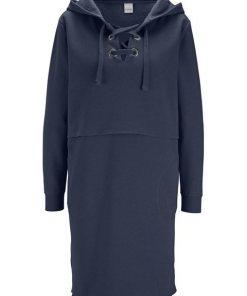 heine CASUAL Kleid trageangenehme Sweatware blau