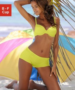 Buffalo Bügel-Bikini-Top »Happy«  seitlich zu raffen lila