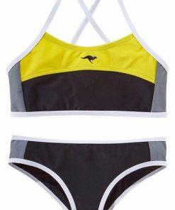 KangaROOS Bustier-Bikini im sportlichen Look schwarz