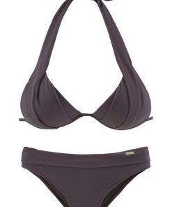 LASCANA Triangel-Bikini mit Push-Up-Effekt braun
