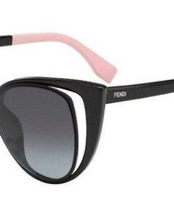 FENDI Damen Sonnenbrille »FF 0136/S« schwarz