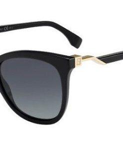 FENDI Damen Sonnenbrille »FF 0200/S« schwarz