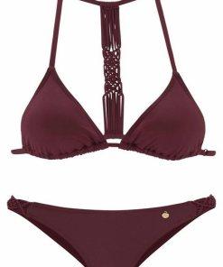 LASCANA Triangel-Bikini im Makramee-Style rot