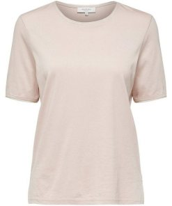 SELECTED FEMME Locker geschnittenes T-Shirt grau